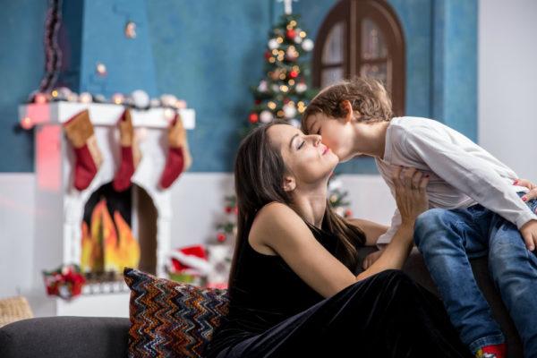 Ședință foto într-un decor de Crăciun